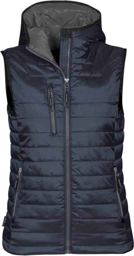WTSTPFV-2W - Navy & Charcoal - WorkwearToronto.com - Women's Gravity Thermal Vest