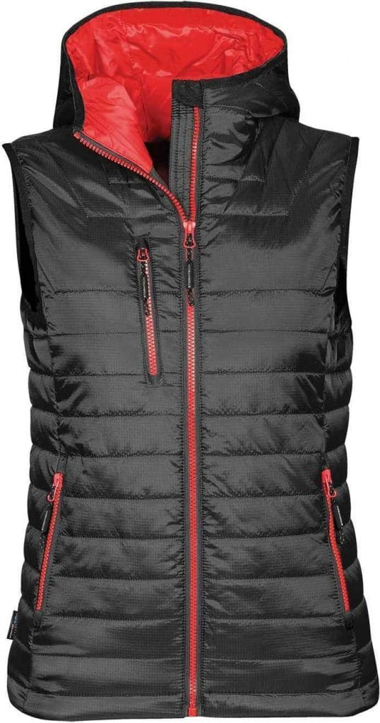 WTSTPFV-2W - True Red & Black - WorkwearToronto.com - Women's Gravity Thermal Vest 2