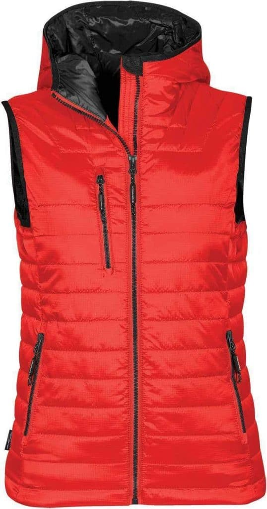 WTSTPFV-2W - True Red & Black - WorkwearToronto.com - Women's Gravity Thermal Vest