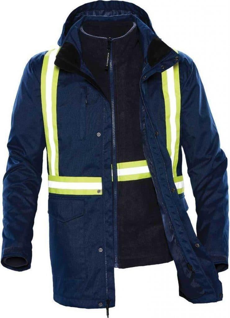WTSTTPX-3R - Navy - WorkwearToronto.com - Unisex Hi-vis 3-in-1 Reflective Jackets