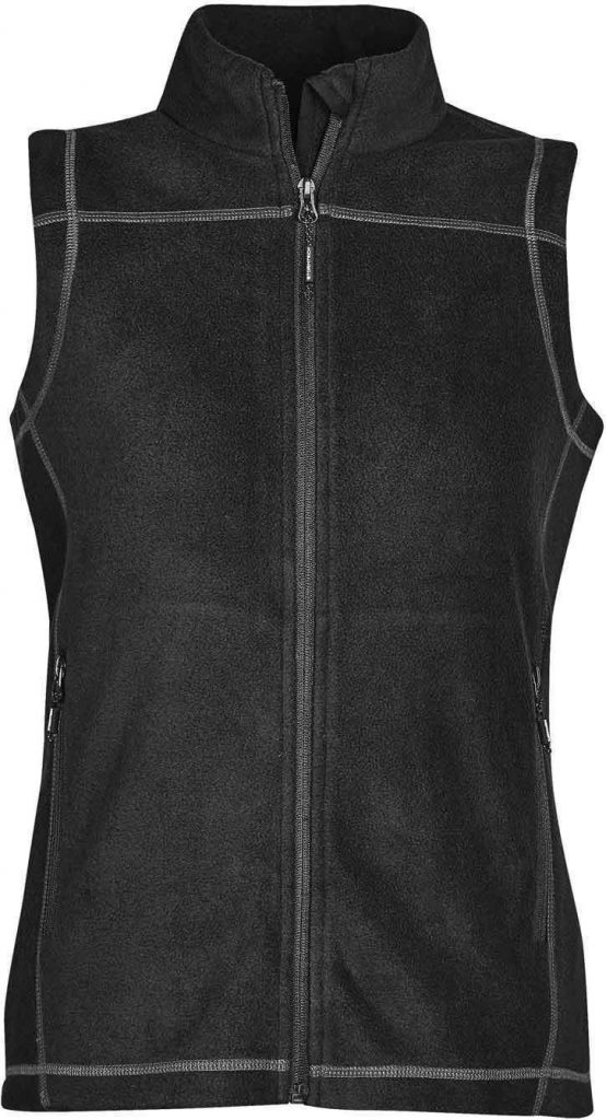 WTSTVX-4W - Granite & Black - WorkwearToronto.com - Woman's Reactor Fleece Vest - 2