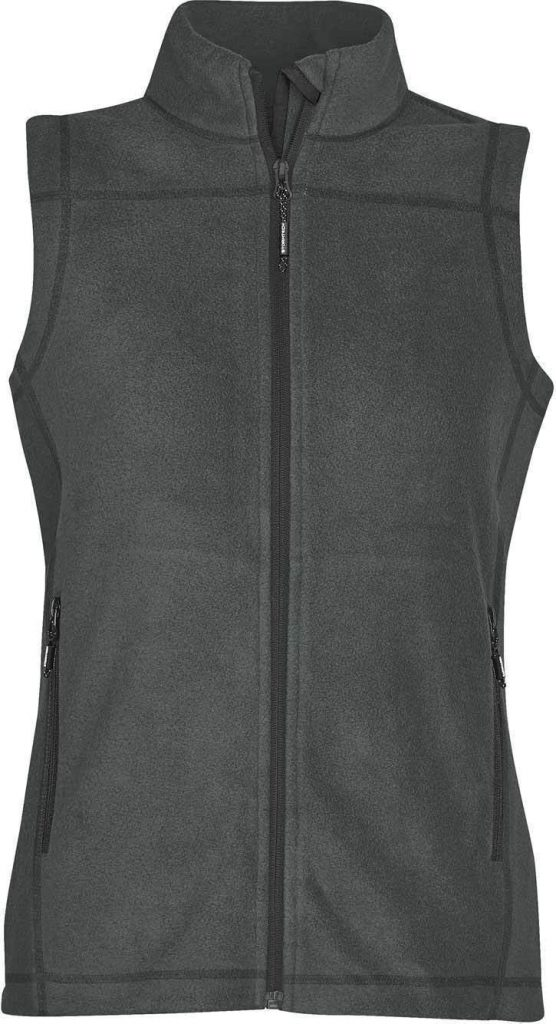 WTSTVX-4W - Granite & Black - WorkwearToronto.com - Woman's Reactor Fleece Vest
