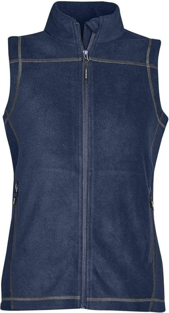 WTSTVX-4W - Navy, Granite & Black - WorkwearToronto.com - Woman's Reactor Fleece Vest - Front