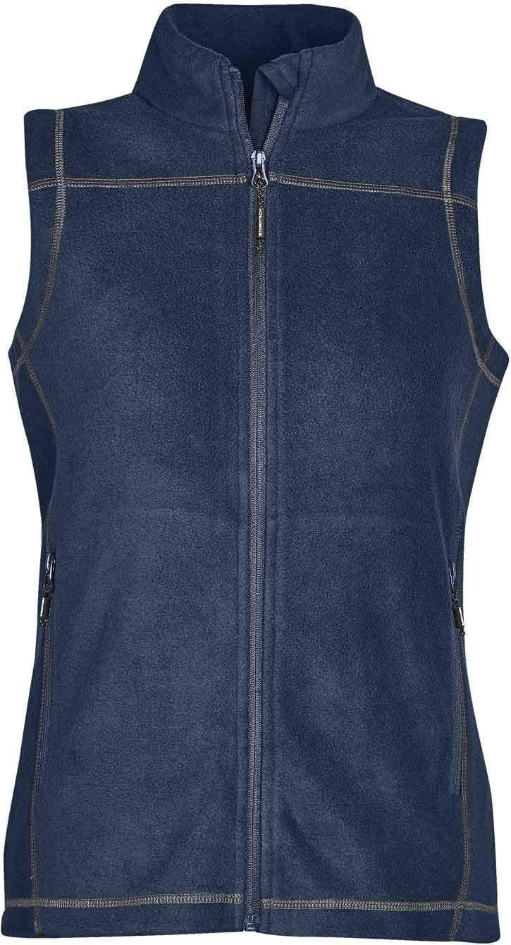 WTSTVX-4W - Navy, Granite & Black - WorkwearToronto.com - Woman's Reactor Fleece Vest - Front - Custom Clothing Embroidery and Heat Press