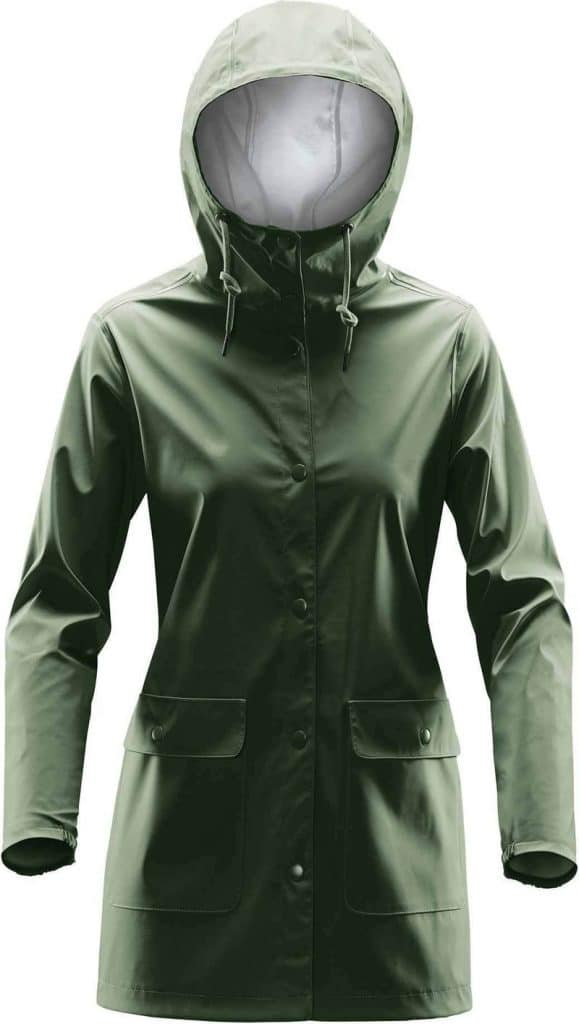 WTSTWRB-1W - Earth - WorkwearToronto.com - Women's Rain Jackets - Rain Jacket Shells - Side