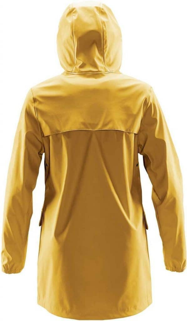 WTSTWRB-1W - Gold - WorkwearToronto.com - Women's Rain Jackets - Rain Jacket Shells - Back