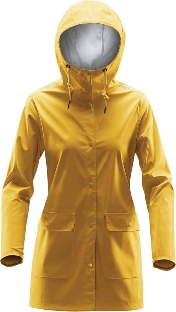 WTSTWRB-1W - Gold - WorkwearToronto.com - Women's Rain Jackets - Rain Jacket Shells - Front - Custom Clothing Embroidery and Heat Press