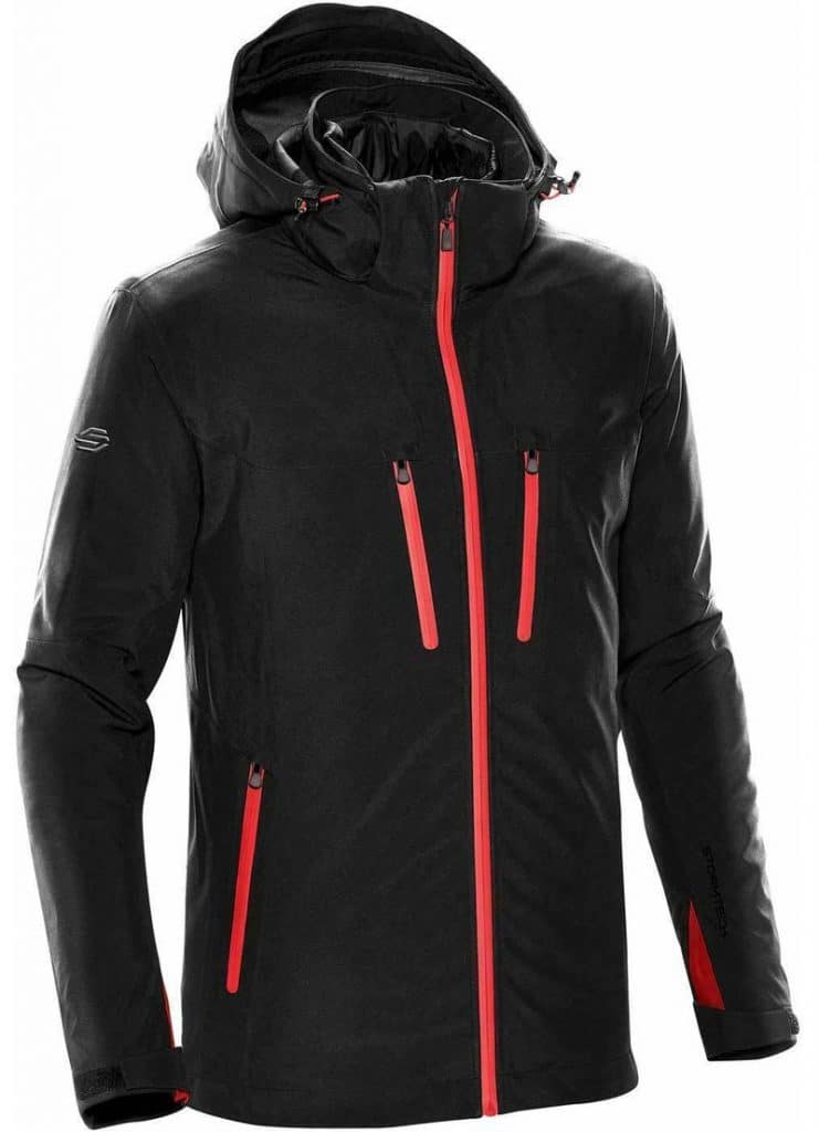 WTSTXB-4 Black-Bright Red - WorkwearToronto.com - Men's Matrix System jacket