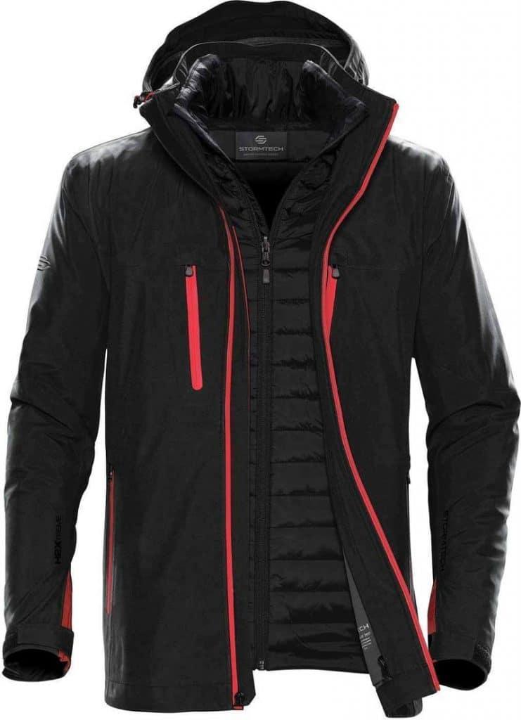 WTSTXB-4 Black-Bright Red - WorkwearToronto.com - Men's Matrix System jacket - Front