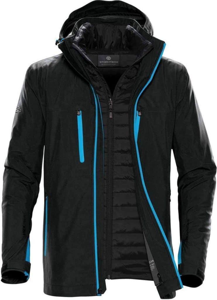 WTSTXB-4 Black-Electric Blue - WorkwearToronto.com - Men's Matrix System jacket