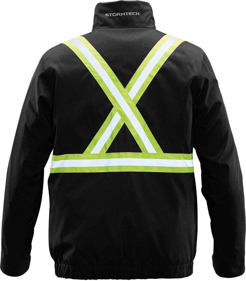 WTSTXLT-4R - Black - WorkwearToronto.com - Hi-Vis Reflective Jackets for men & Women - Back