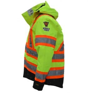 Custom Hi-Vis/Hi-Viz Jackets - WWT - Safety Jacket - Yellow -Safety Wear - Workwear Toronto - Heat Transfer - Screen Printing - Embroidery
