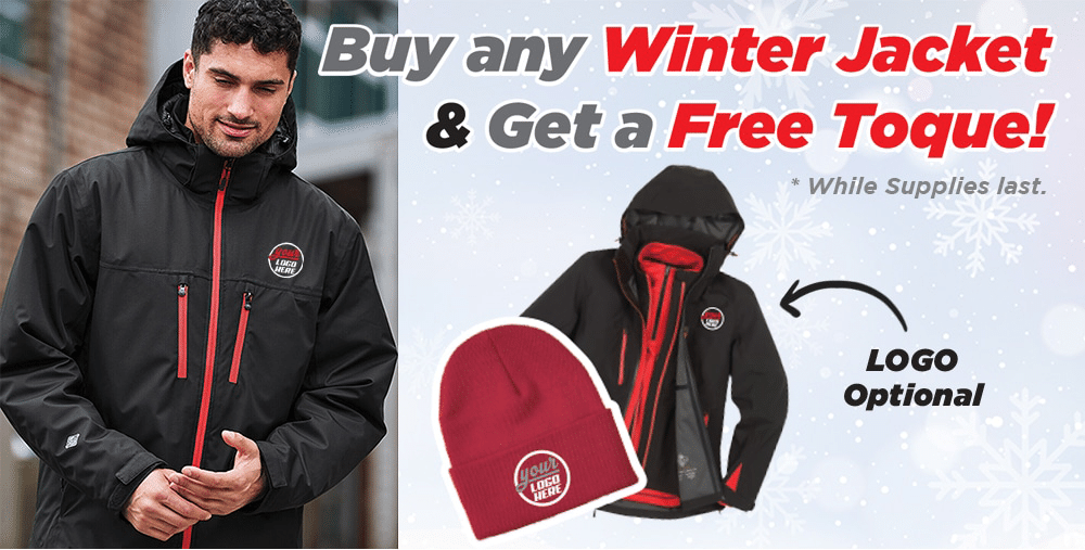 Special Offer - Workwear Toronto - Custom Workwear - Custom Corporate Apparel - Your Logo - Promotional Products - Heat Transfer - Screen Printing - Embroidery