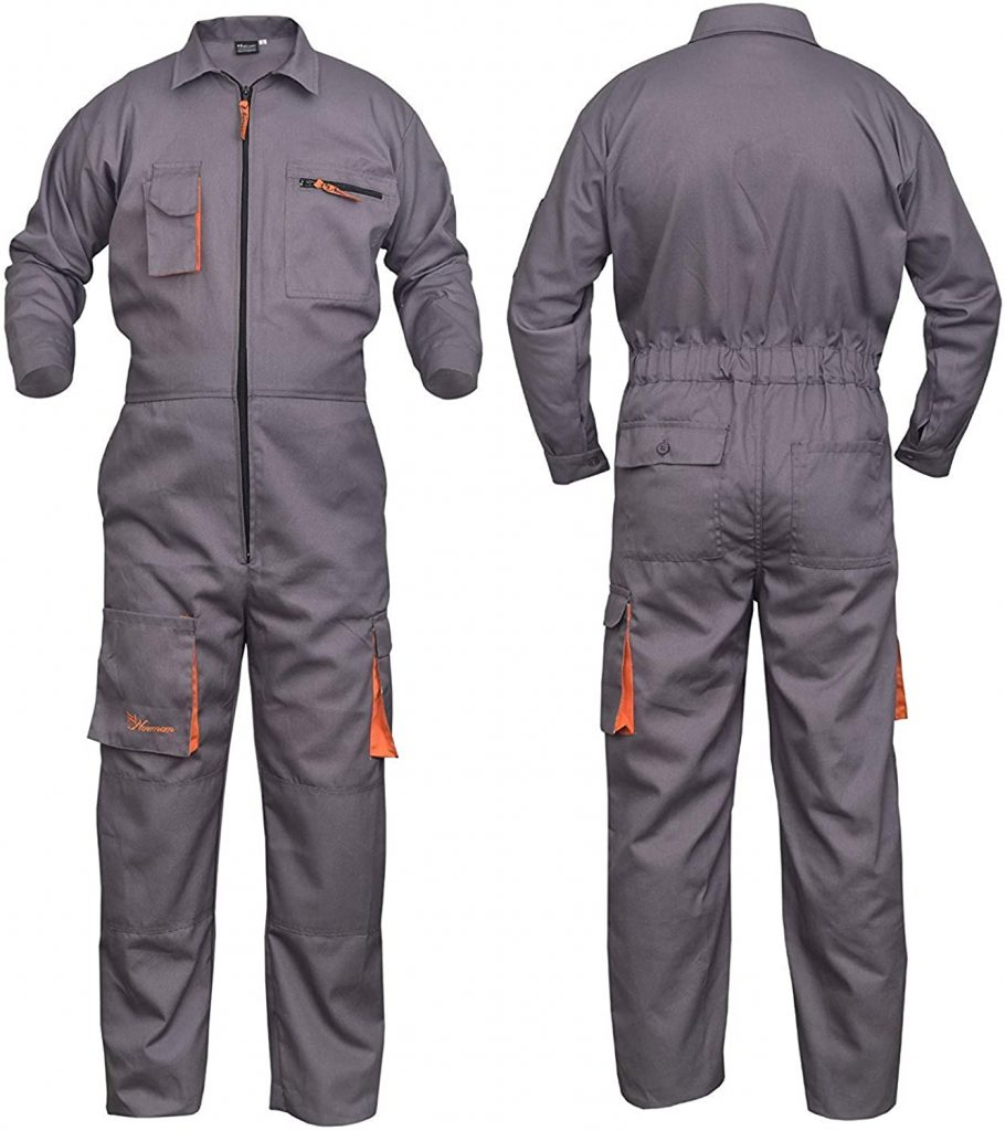 Coveralls decorated with your custom logo - WorkwearToronto.com - Heat Transfer - Screen Printing - Embroidery - Black