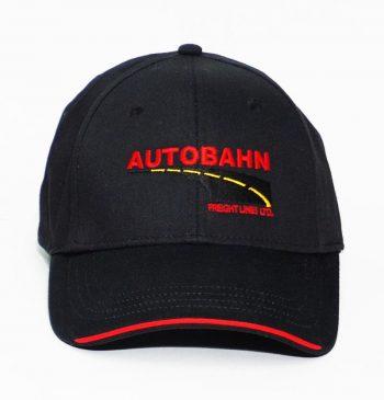 AutoBahn Embroidery Black cap workwear Toronto WorkWearToronto.com - Custom Logo - Your Logo - Baseball Cap
