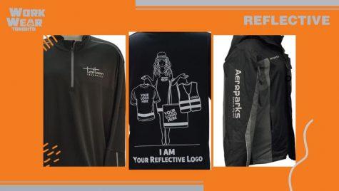 MAIN - WorkwearToronto.com - Reflective logo - Corporate Apparel - Heat Press